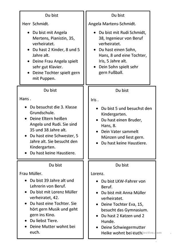 Familienspiel   DİLLER   Pinterest   German, German language and ...