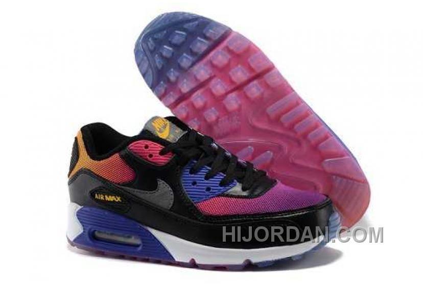meet e73d7 38ca6 Nike Air Max 90 Womens Black Purple Blue Super Deals JRxHR, Price   74.00 -  Air Jordan Shoes, Michael Jordan Shoes