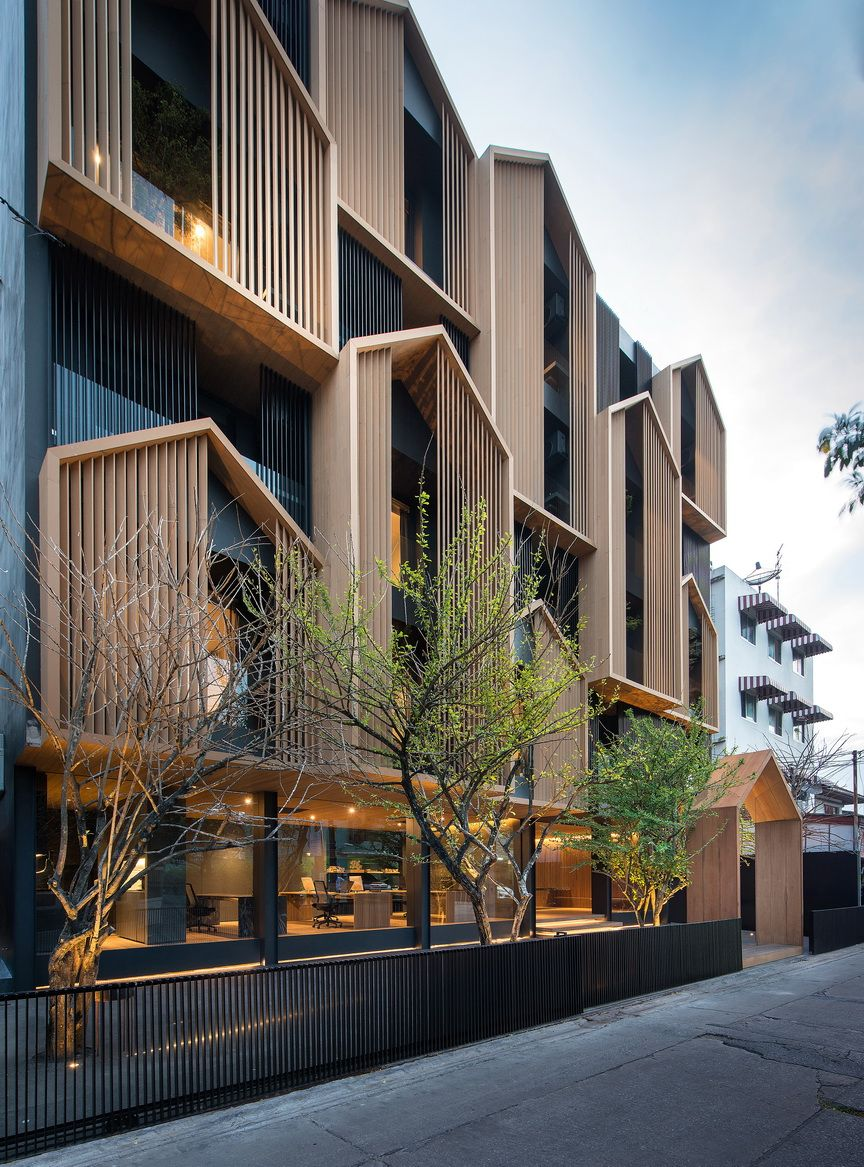 Octane   vertical residential village in bangkok plays with the archetypal house shape also best new tj unit plan images rh pinterest
