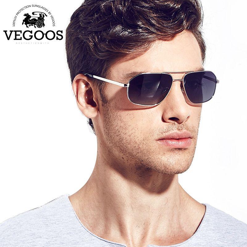 720664b4ba VEGOOS Luxury Brand Designer Pilot polarized sunglasses Sun glasses Free  shipping men polarized anti uvb Pilots