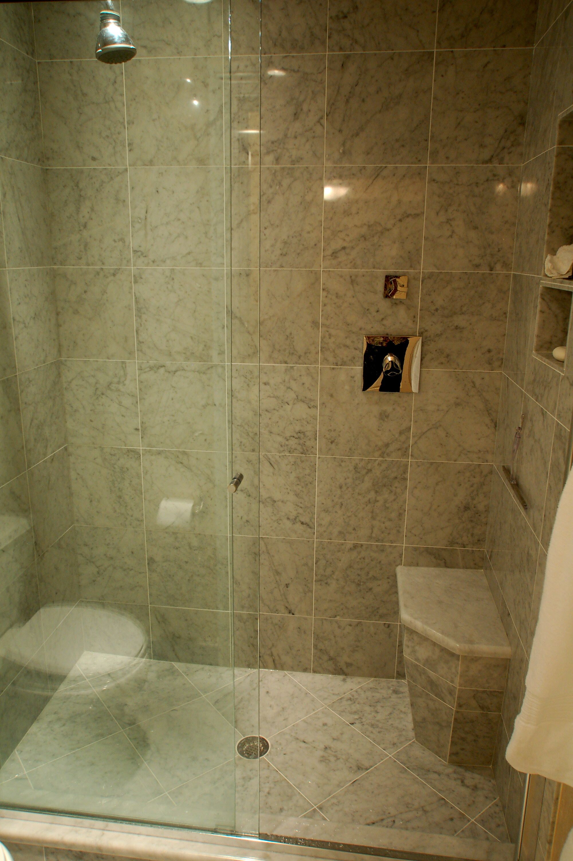 The bathroom shower stall designs above is used allow the decoration ...