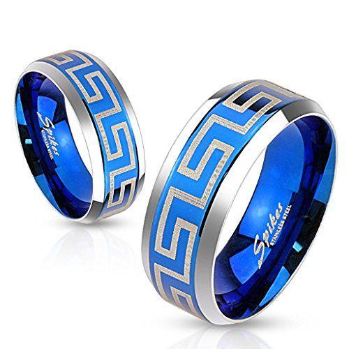 Bungsa® 60 (19.1) Blauer Labyrinth Ring Edelstahl Frauen