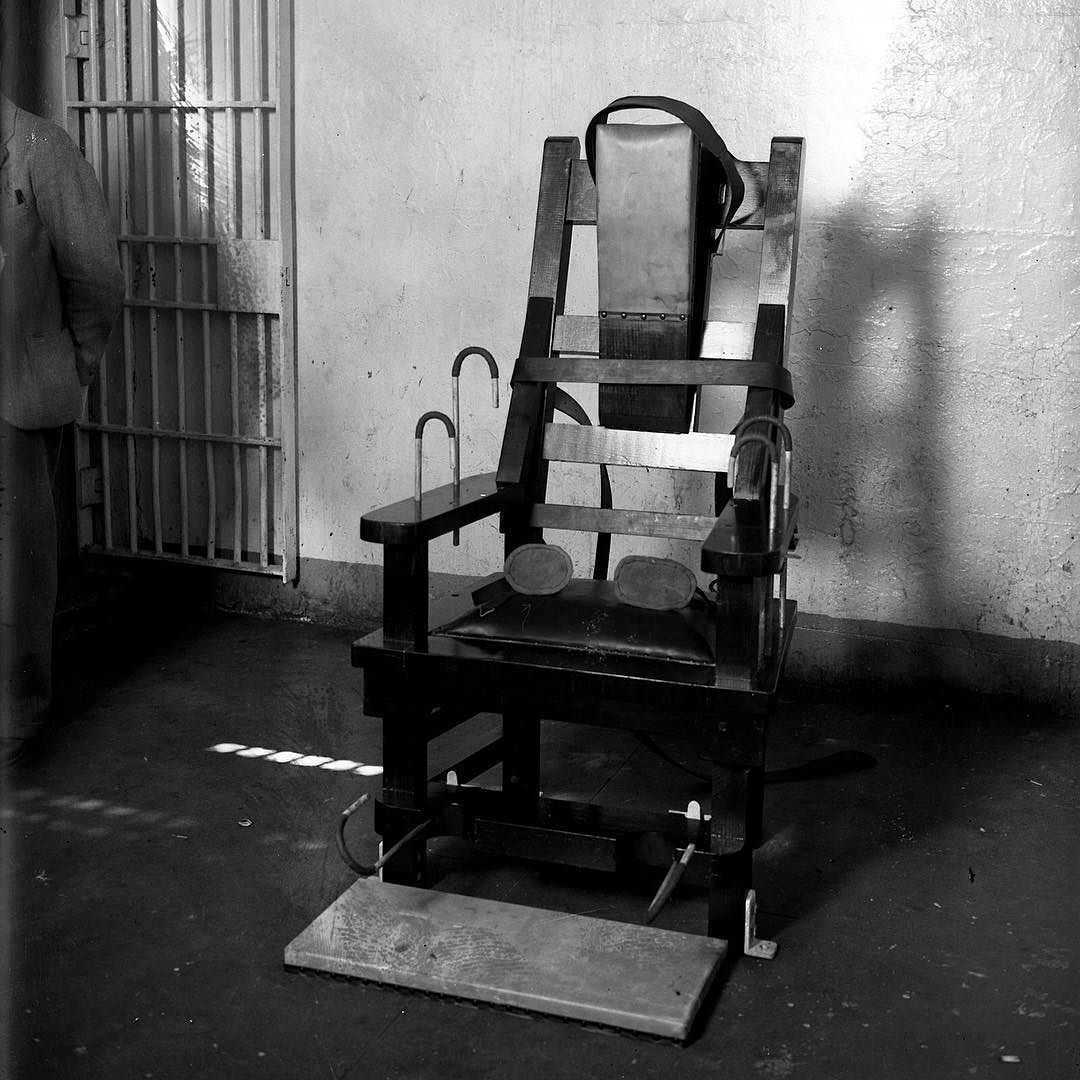 The electric chair is installed at Cook County Jail on Aug
