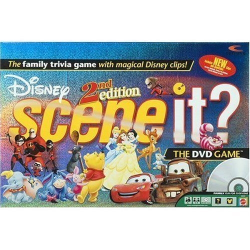 Amazon Com Scene It Dvd Game Disney 2nd Edition Toys Games Trivia Games Dvd Board Games