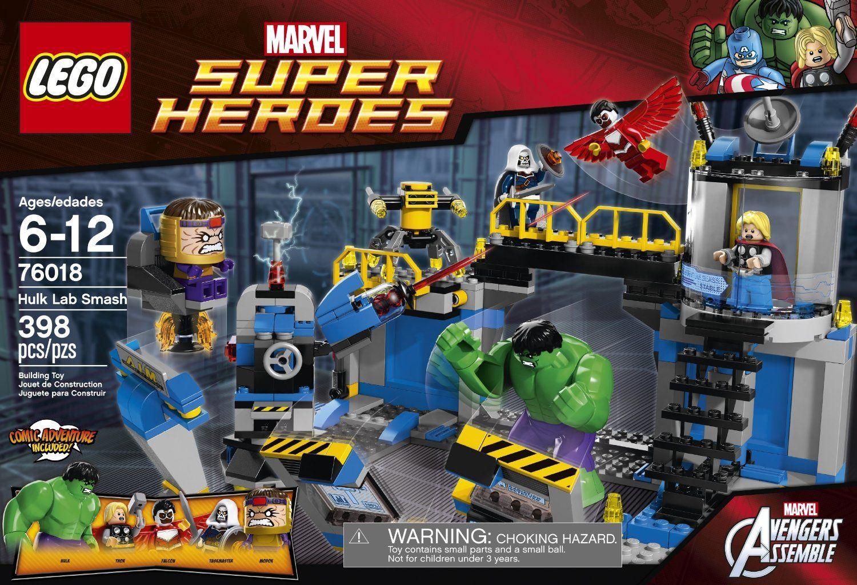 LEGO Marvel Super Heroes Hulk Lab Smash 76018 AVENGERS Retired RARE THOR NEW
