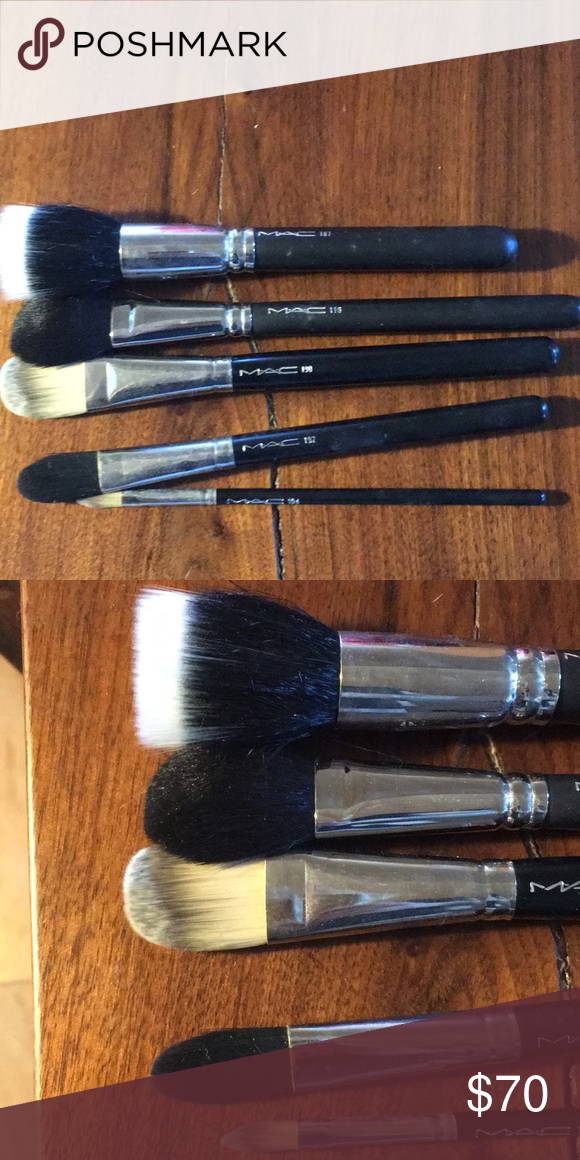 5 MAC face brushes MAC brushes, great condition from PRO