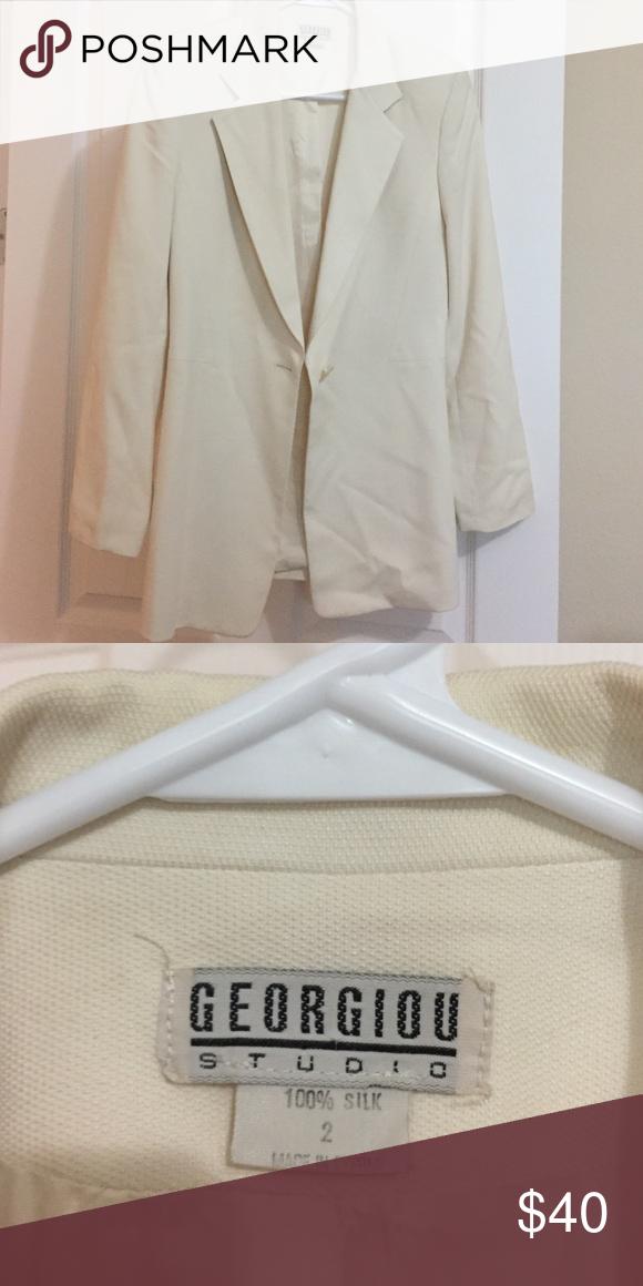 Jacket Beige jacket size 2 Georgiou Jackets & Coats Blazers