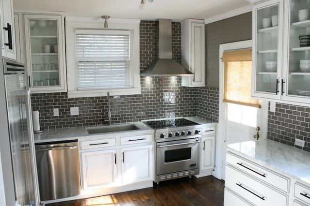 White Kitchen Cabinets Grey Walls Grey Kitchen Walls White