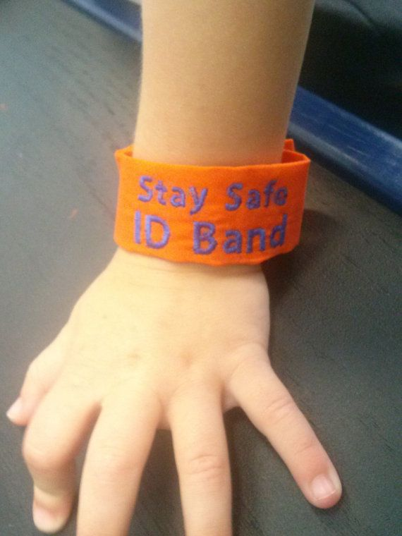 Kids Safety Id Bracelet Washable Band By Cuteasaonbow 12 99 Gators Orange Blue