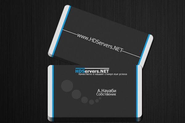 Clean Black IT Rounded Business Card Template Designed For The - Rounded business card template