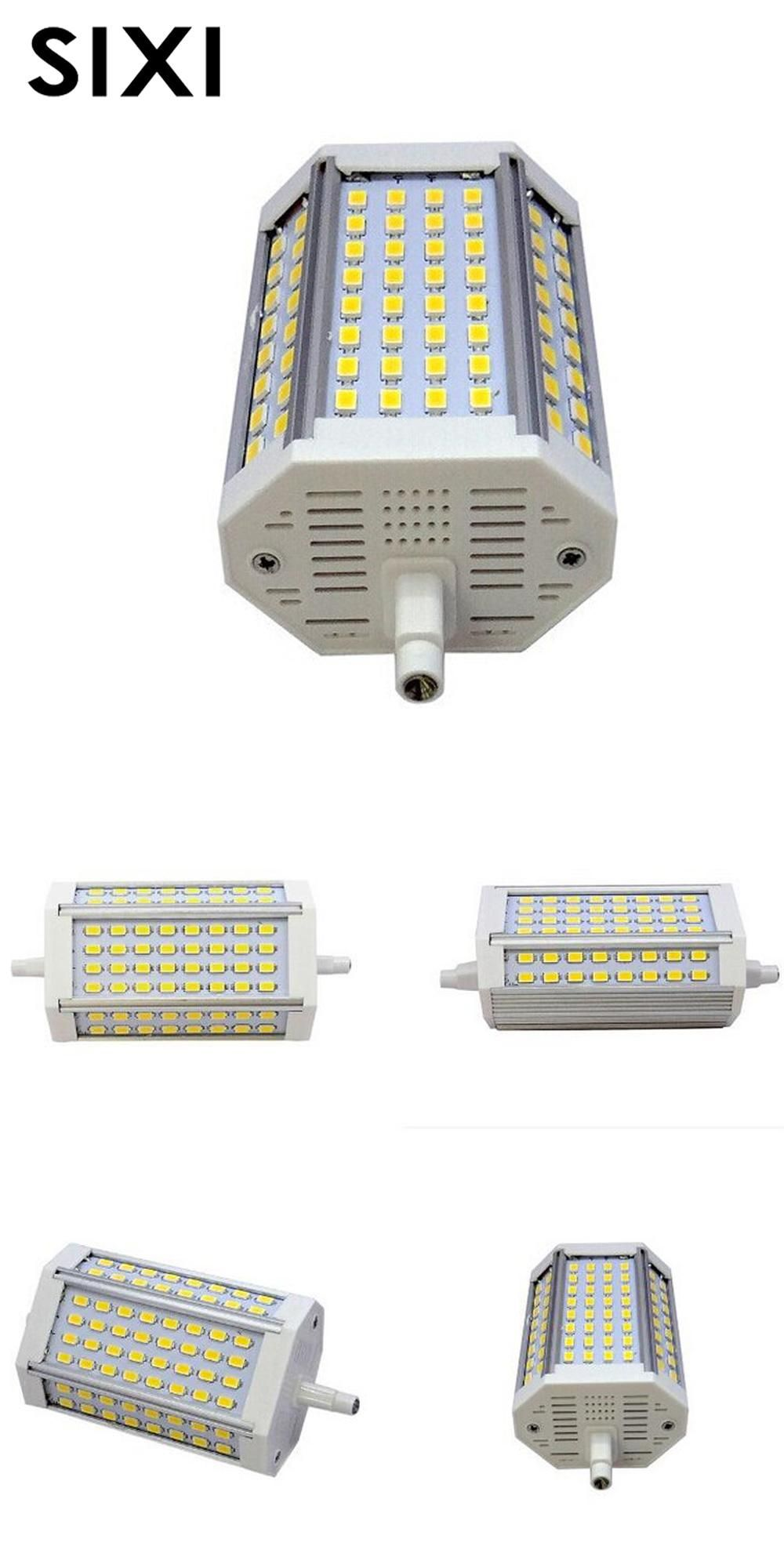 Visit To Buy Dimmable R7s 30w 118mm Led Bulb Floodlight Bulb R7s Light J118 R7s Lamp No Fan No Noise Replace Halogen Lamp Ac85 265 Halogen Lamp Led Bulb Bulb
