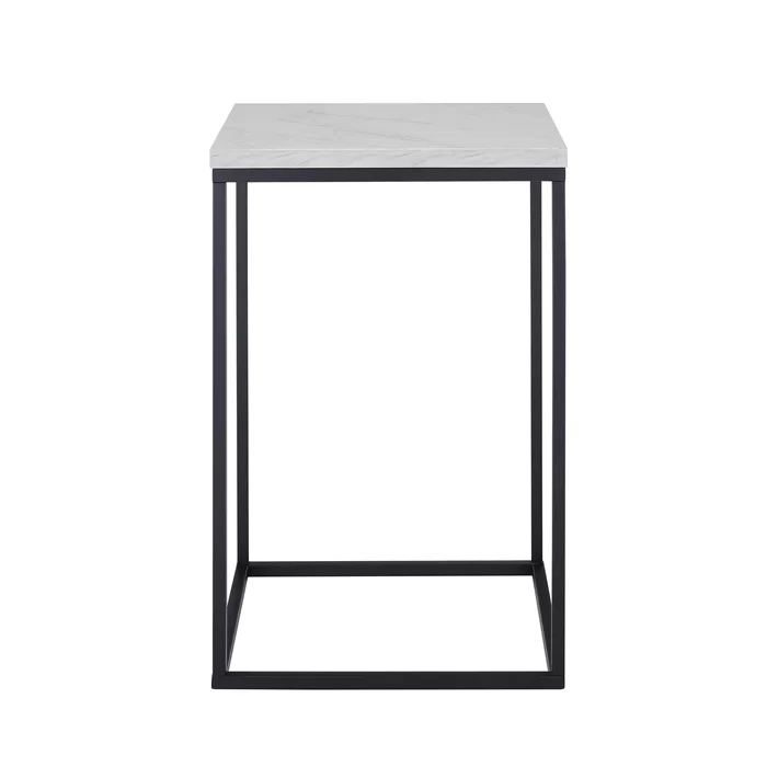 Dorsey Frame End Table White Marble Side Table Modern Side Table Side Table