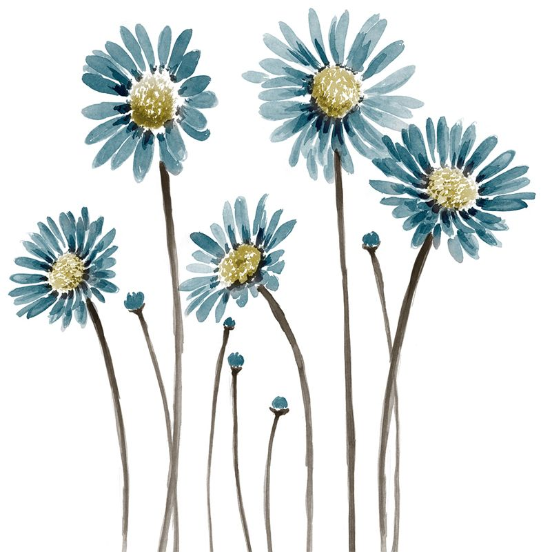 Blue Flowers Con Imagenes Disenos De Arte Bordados A Mano