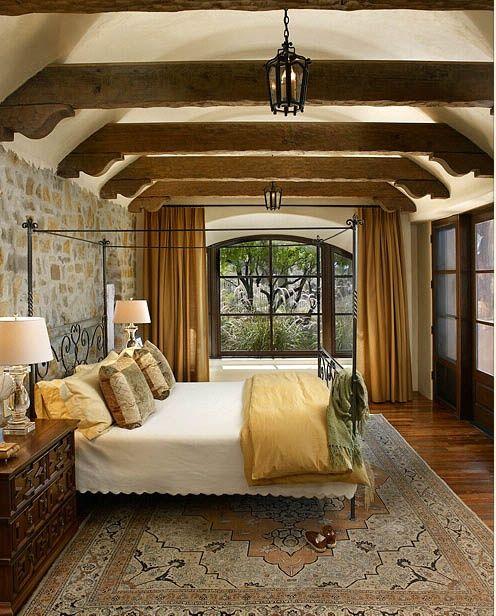 beautiful color, beams and windows