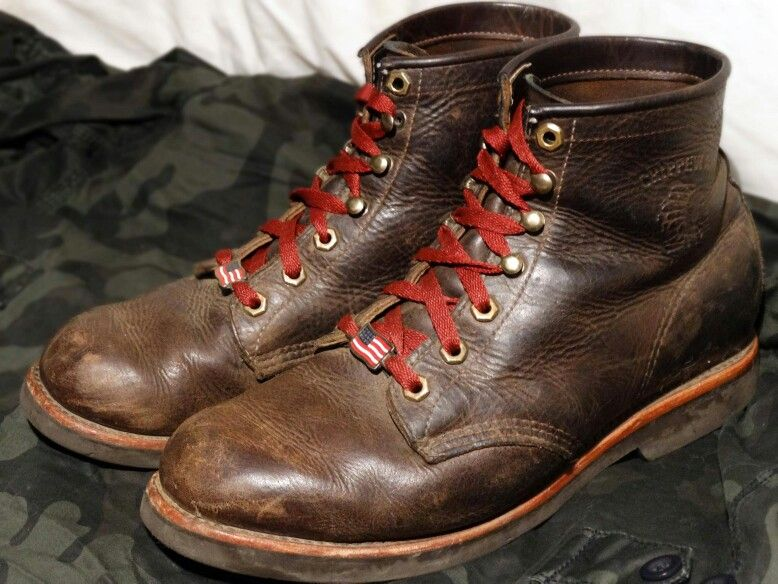 Chippewas with red laces