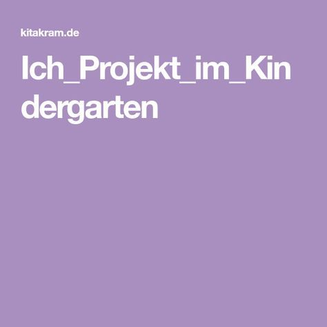 Projekt zum thema kennenlernen