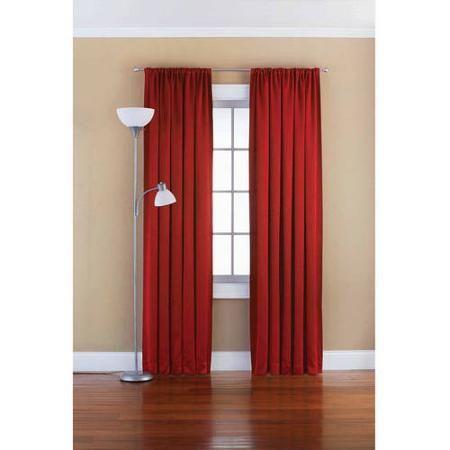 Mainstays Solid Room Darkening Curtain Panel Walmart Com Room
