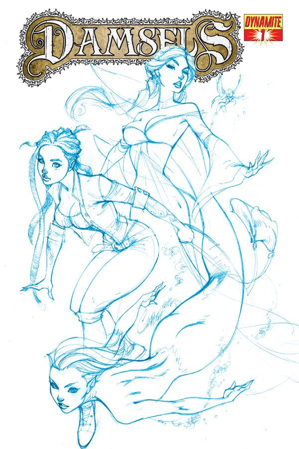 """Win Yourself One Of Only Twenty-Five """"Sea Blue"""" J Scott Campbell Covers For Damsels #1"""