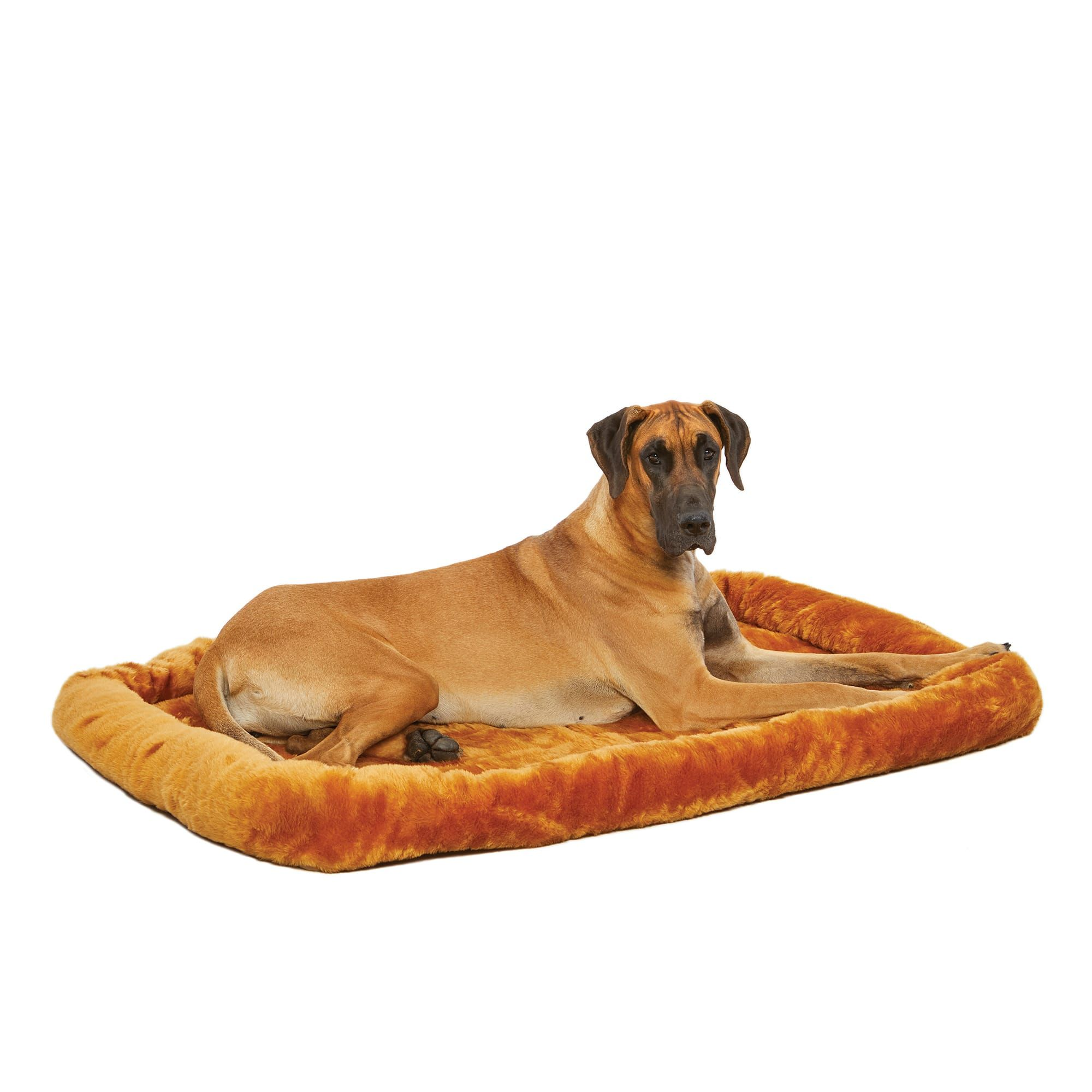 """Midwest Quiet Time Bolster Cinnamon Dog Bed, 54"""" L X 37"""" W"""