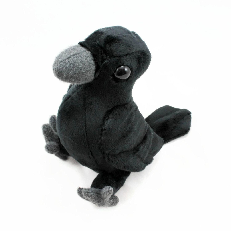 Crow/Raven Stuffed Animal, Plush Toy, Corvid Plushie - Pre-Order ...
