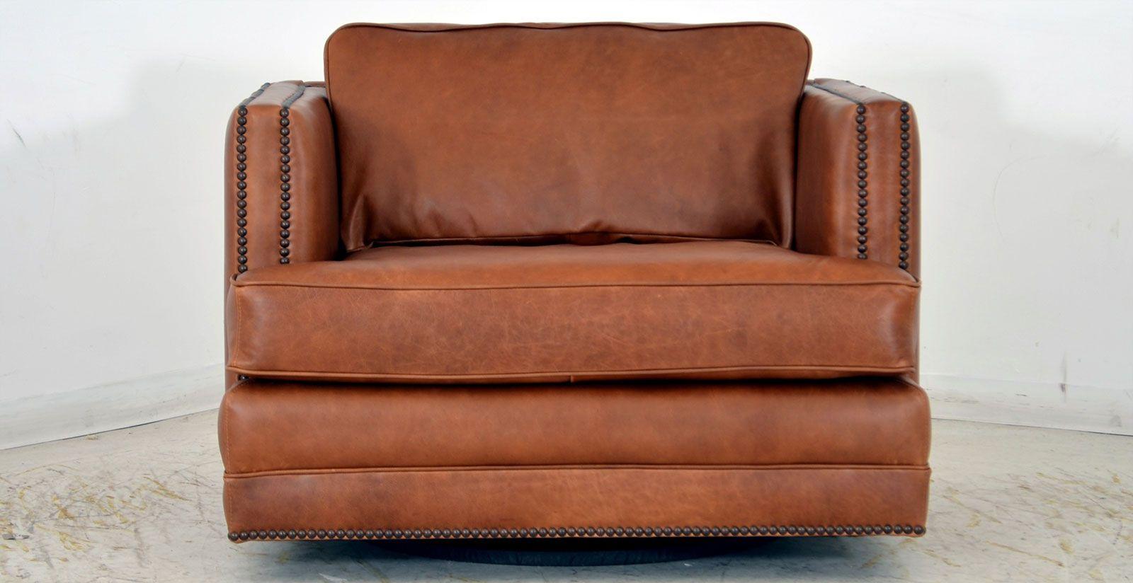 Easton Swivel Chair ‹‹ The Leather Sofa Company Sofa