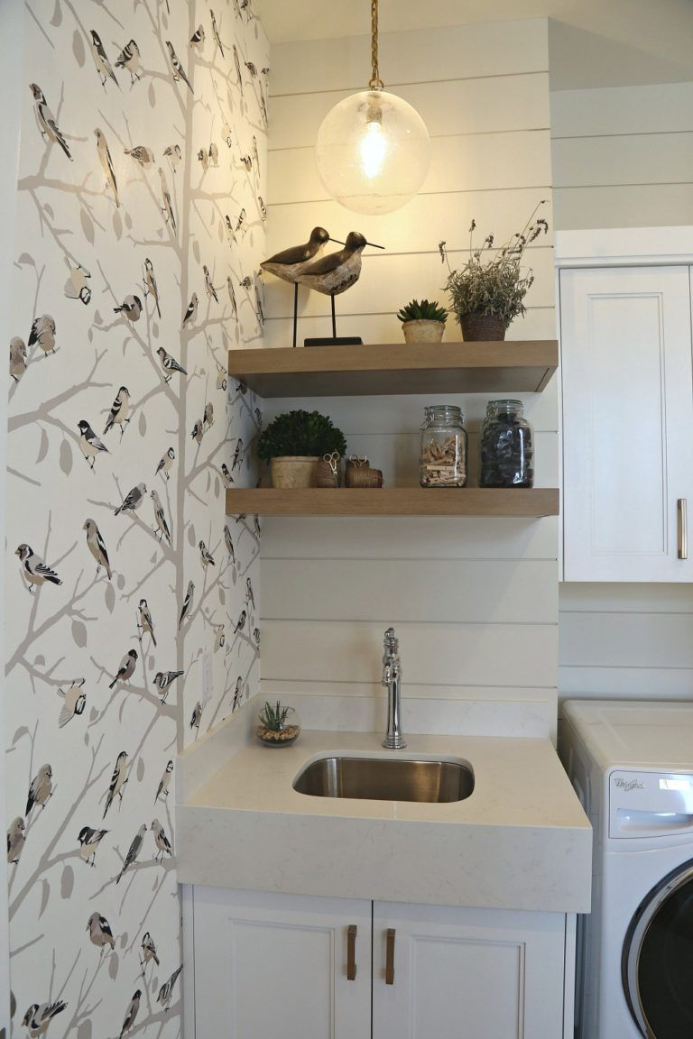 Painted shiplap wall in laundry room pinewainscotingideas pine