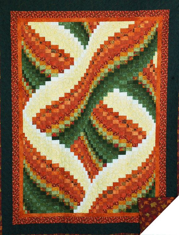 Stunning Bargello Quilt by KandesQuilts on Etsy