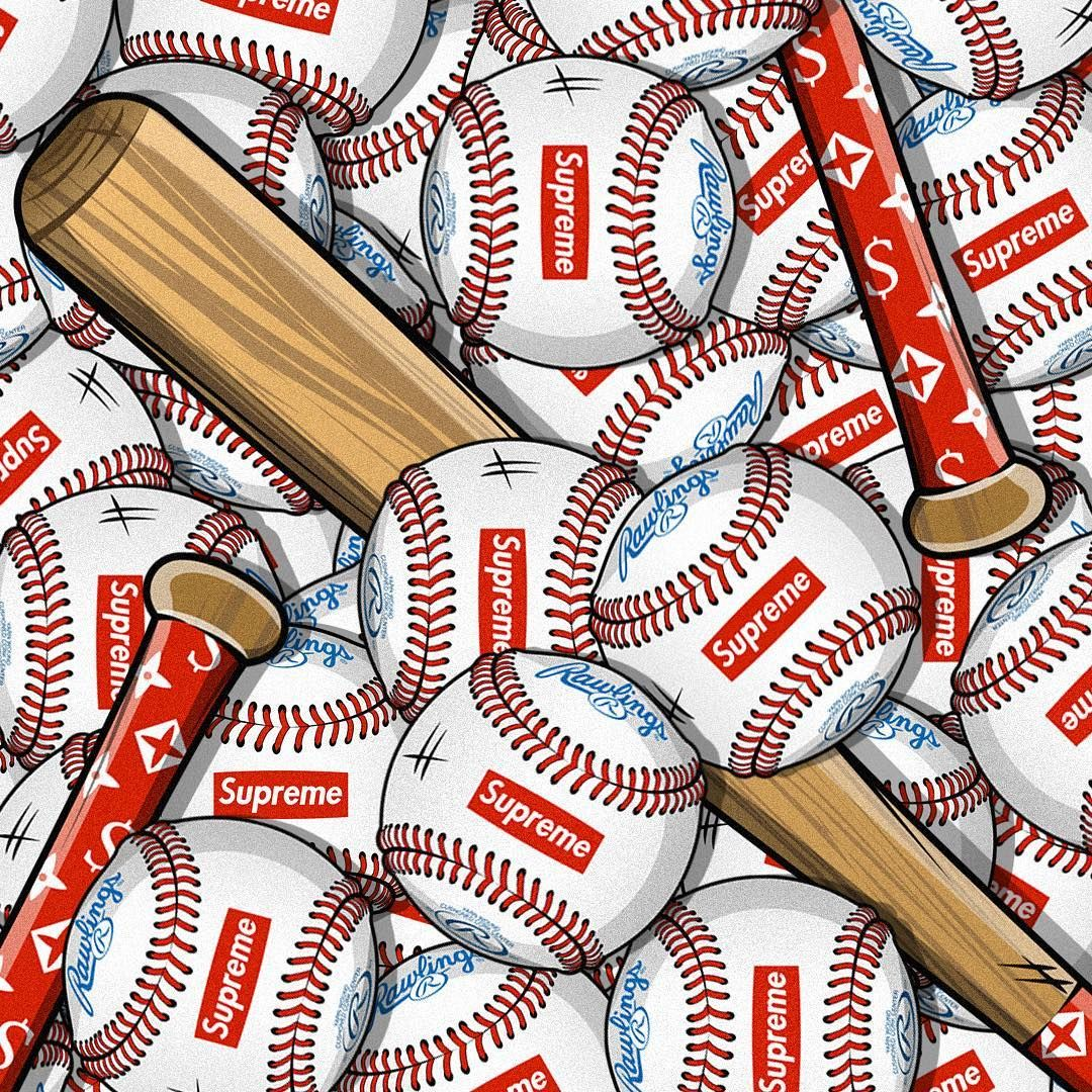 Mlb Is Back Supreme Wallpaper Hype Wallpaper Supreme Iphone Wallpaper
