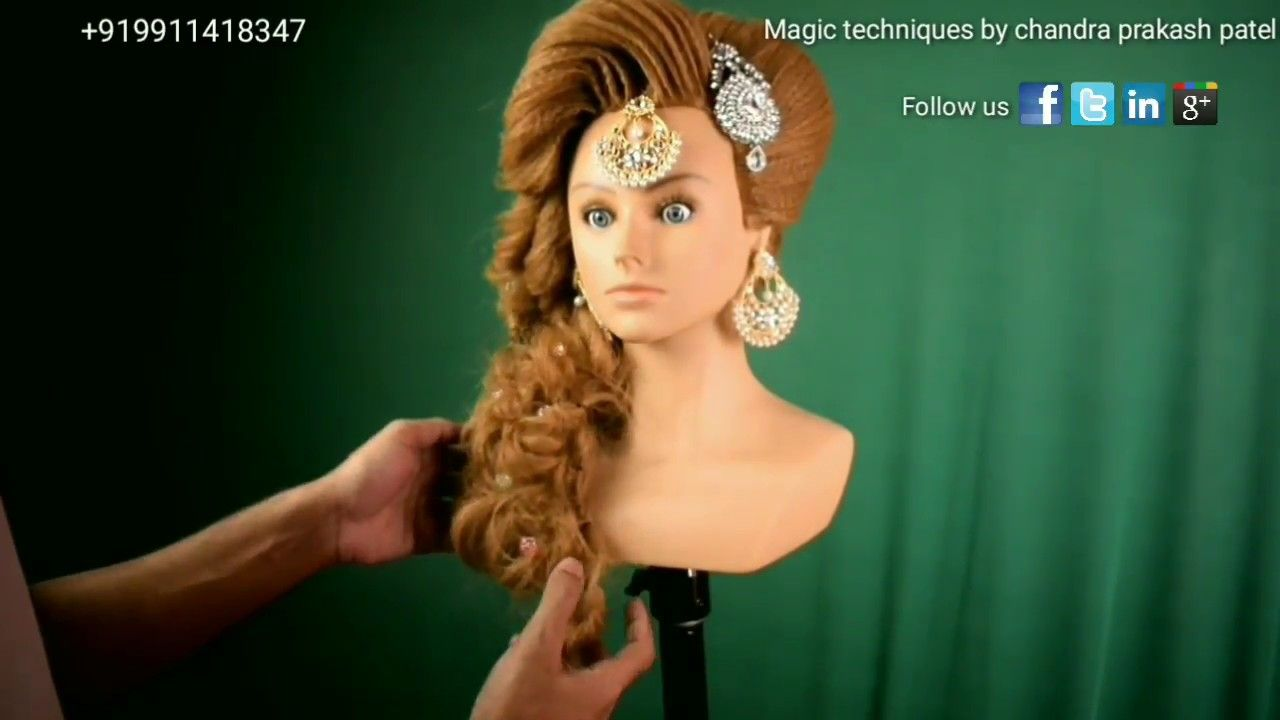 pakistani muslim bridal hairstyle in india (magic techniques