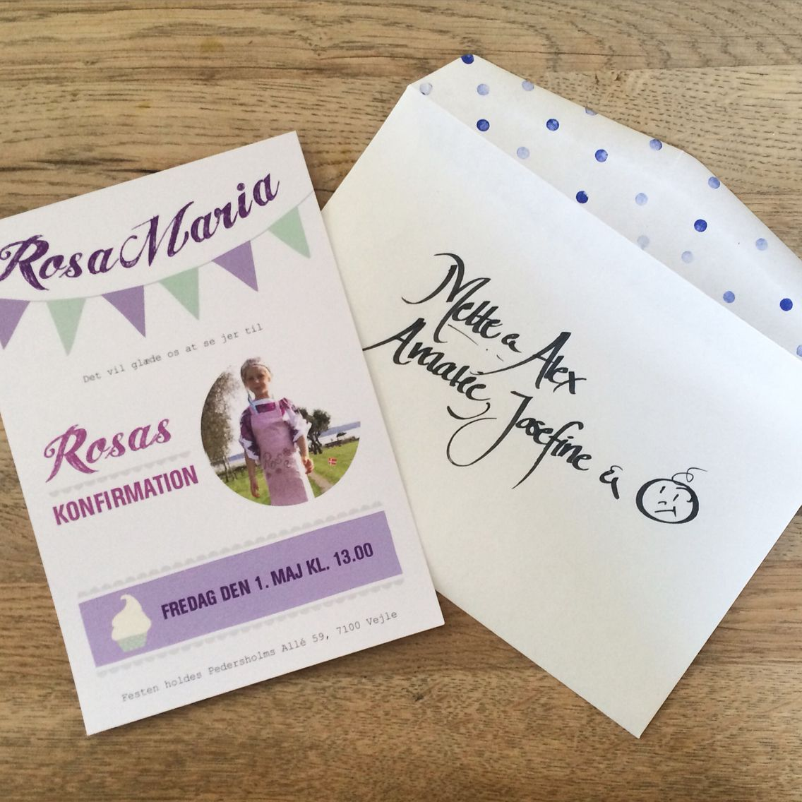 Invitation Til Rosas Konfirmation Invitation