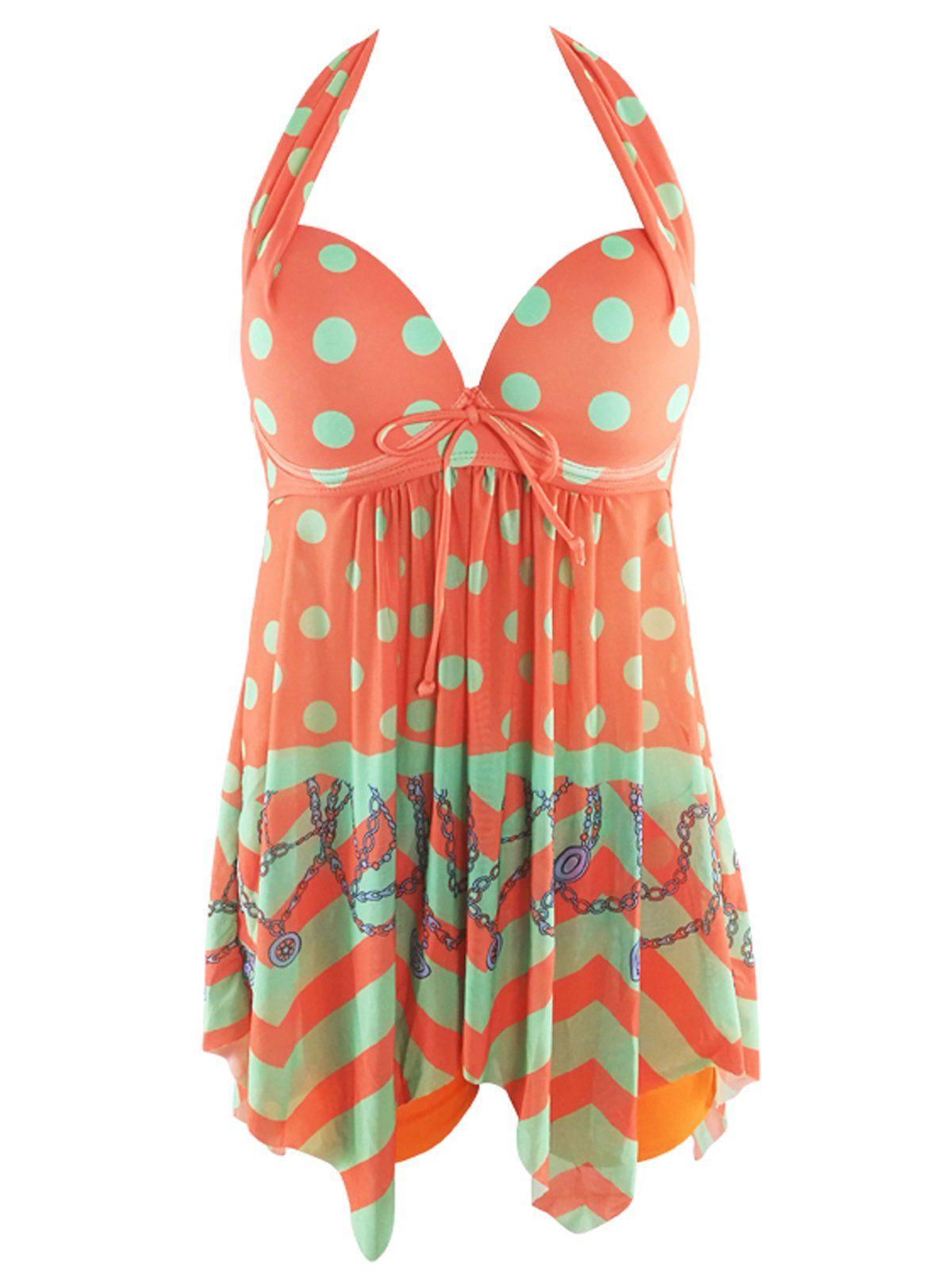 ba83990b2e34e Maternity Styles - Zando Womens Skirted Tummy Control Tankini Swimdress Two  Piece Printed Swimsuit with Boyshorts Slimming Swimwear Patchwork Orange  Large ...
