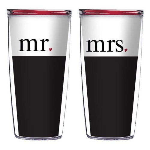 Great Wedding Anniversary Gifts: Mr. And Mrs. 16 Oz Signature Tumblers