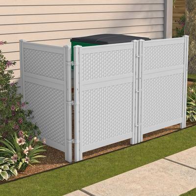 Suncast Reversible Outdoor Screen Enclosure Bmpf4836d Home Depot Canada Screen Enclosures Outdoor Screens Outdoor Trash Cans
