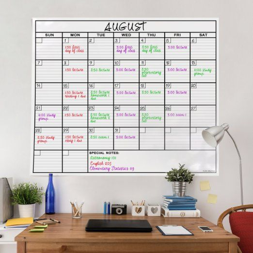 Amazon Com Officethink Laminated Jumbo Calendar Huge 36 Inch By 48 Inch Size Extra Large Date Boxes Heavy Duty Laminate Paper Never F Apuntes Organizacion