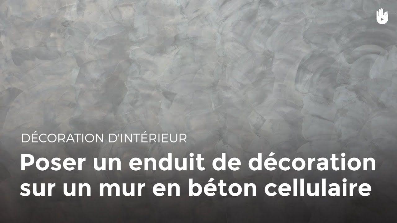 Poser Un Enduit De Decoration Sur Un Mur En Beton Cellulaire Bricolage Mur Beton Beton Cellulaire Decoration