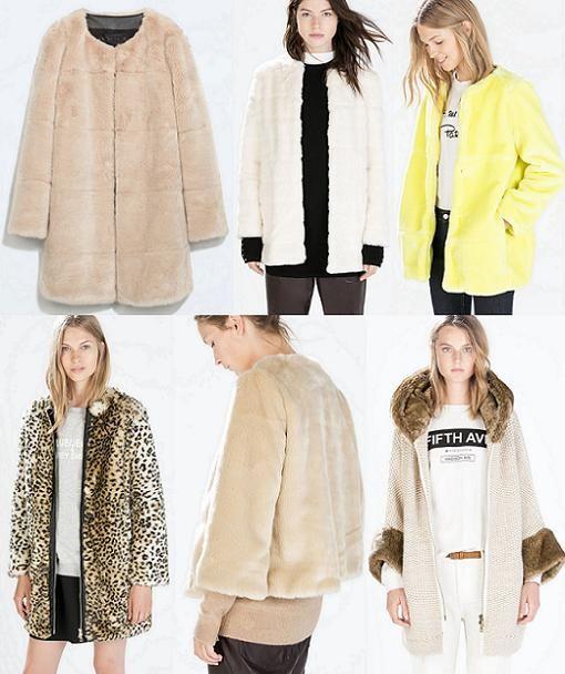 abrigos de piel zara mujer otoño invierno 2014 2015