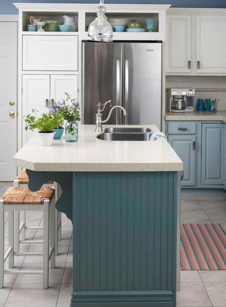 Teal Color Kitchen Island Thebestwoodfurniture Com Kitchen Sink Design Kitchen Island Design Painted Kitchen Island