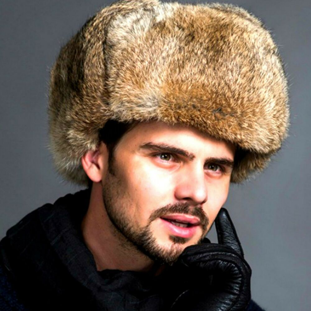 New Men/'s Winter Warm Fur Russian Hat Trapper Ushanka Cossack Ski Cap Thick Hot