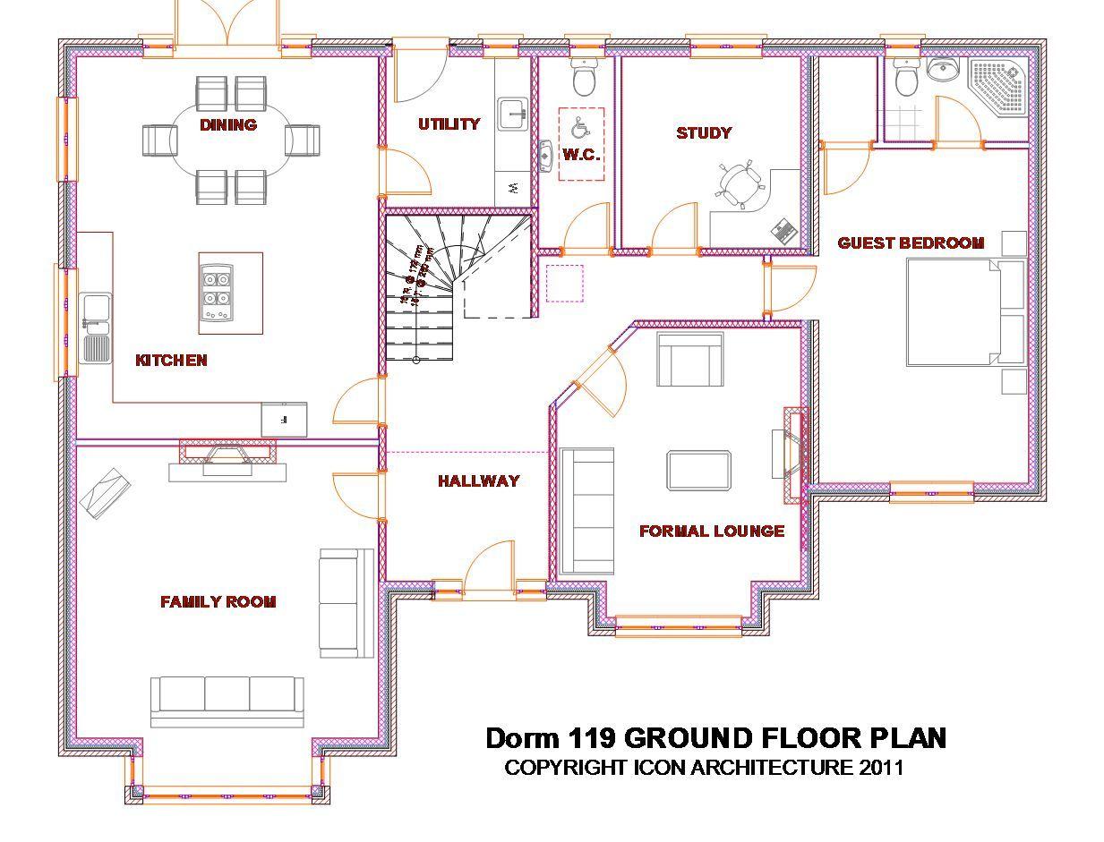 Www Irish House Plans Com Dorm Catalog Dorm119 Dorm119 Gflr Jpg Irish House Plans Bungalow House Plans House Designs Ireland