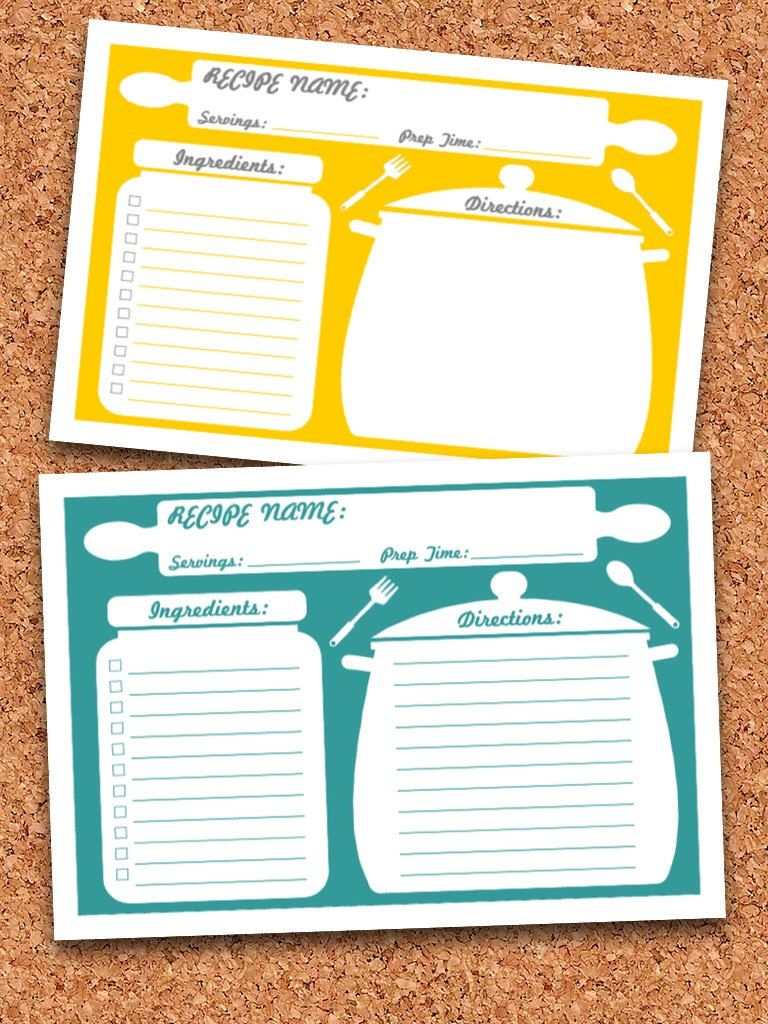 Recipe Cards Printable Fillable Instant Download Etsy Printable Recipe Cards Recipe Cards Printable Editable Recipe Cards Template