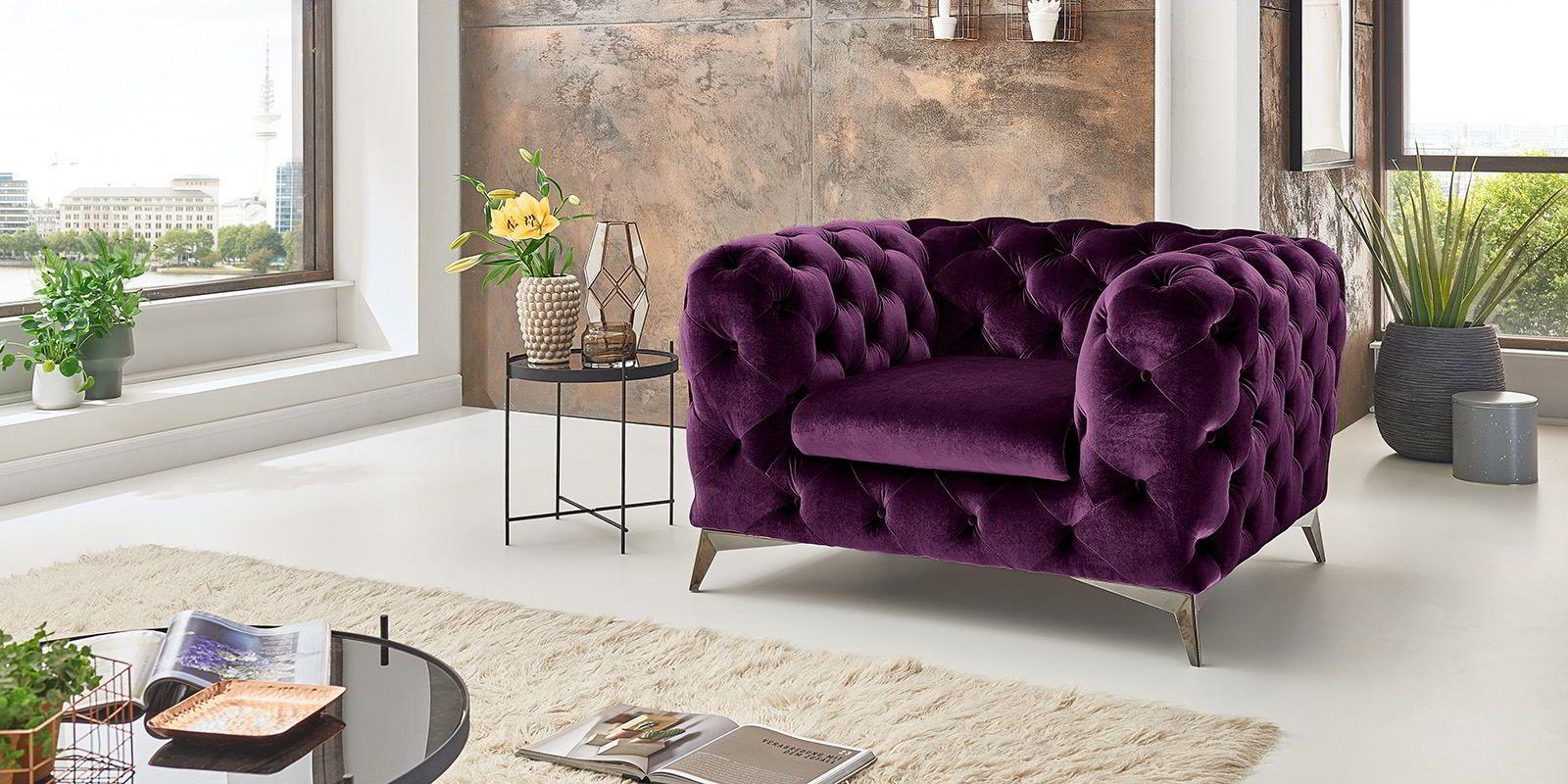 Chesterfield Sessel Big Emma Samt Moebella24 Chesterfield Sessel Sofa Design Wohnzimmer Design