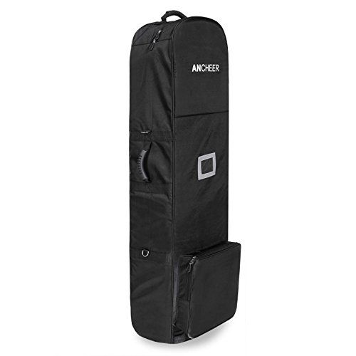 Ancheer Golf Club Travel Bag Cover With 2 Wheels Black Oxford You Can Find More Details By Visiting The Image Link This Is An Affiliate