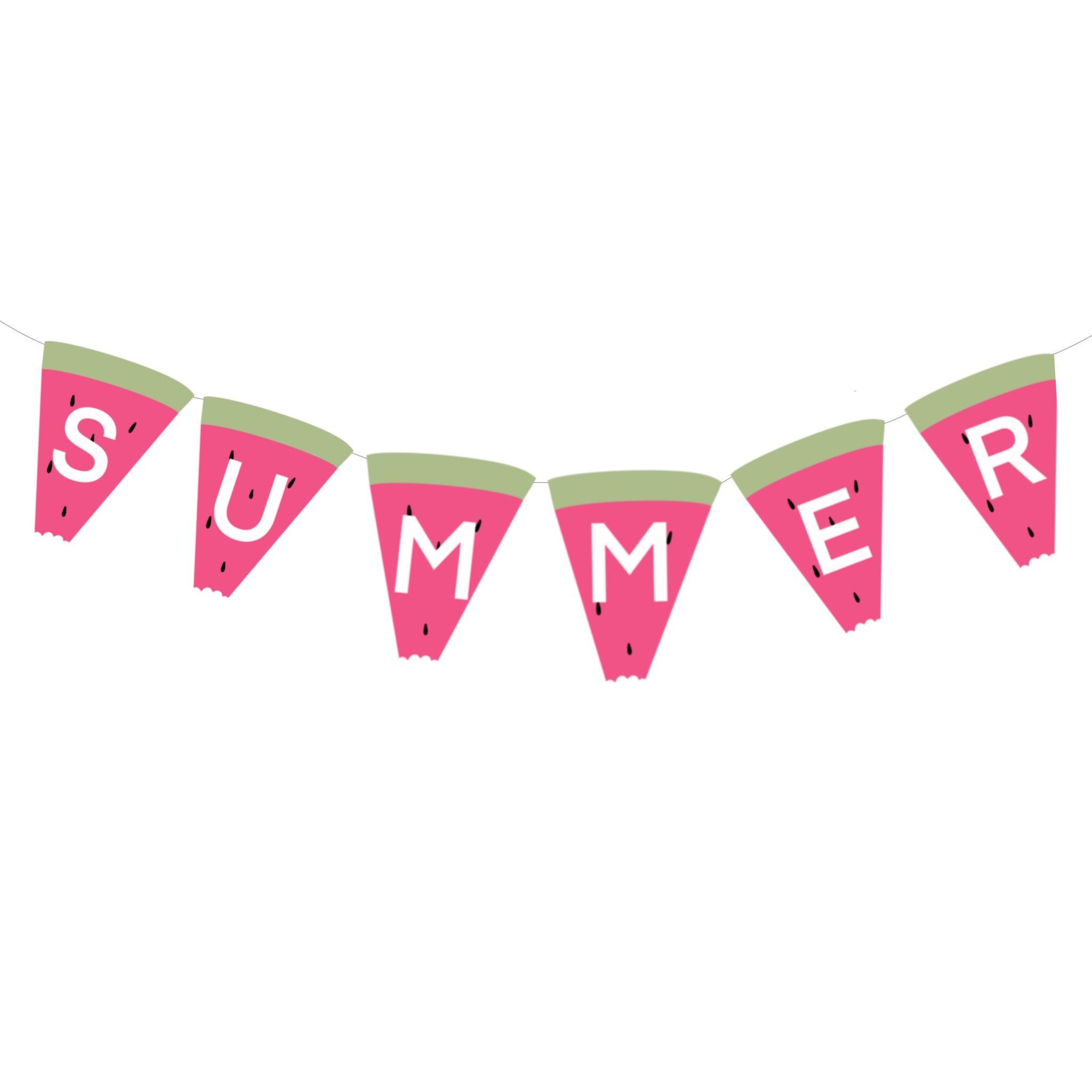 Summer Printables Watermelon Banner