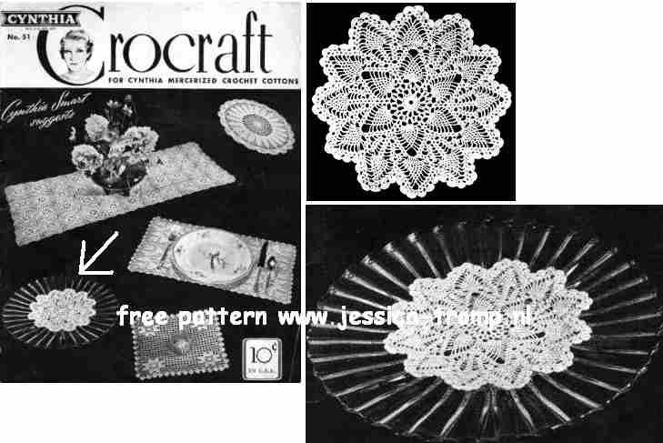 Pineapple Doily No 83 Free Vintage Crochet Doilies Patterns