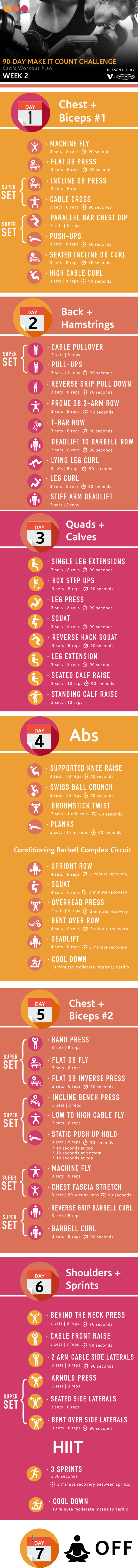90 Day Make It Count Challenge Follow Carl S Plan Bodyweight Exercises