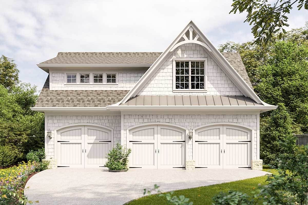 Plan 25691ge Carriage House With 3 Stall Garage In 2020 Carriage House Plans Carriage House Apartments Carriage House Garage