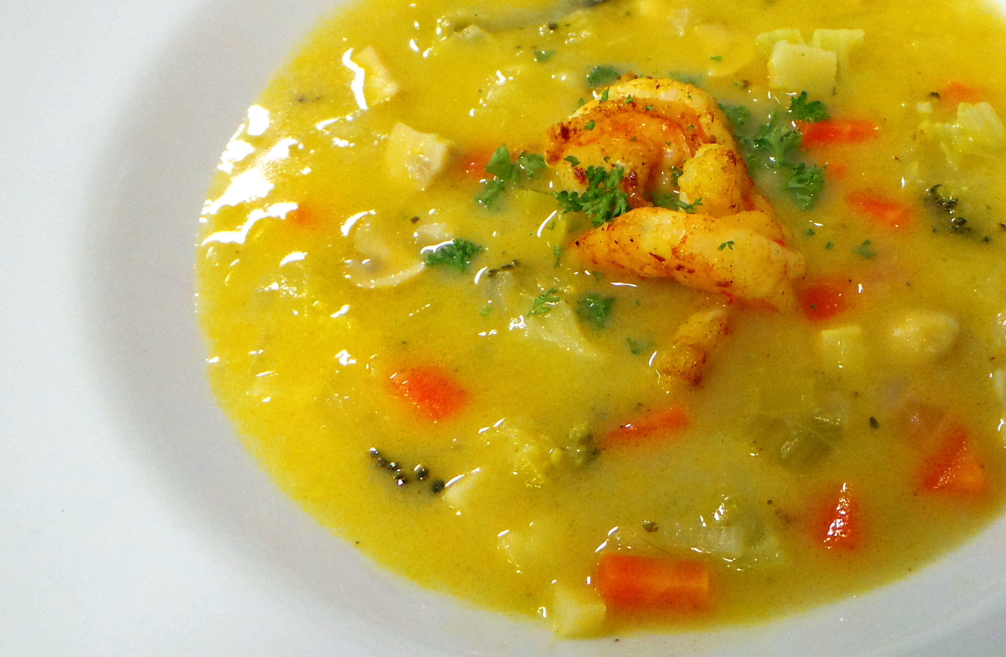Groenten-kokos soep