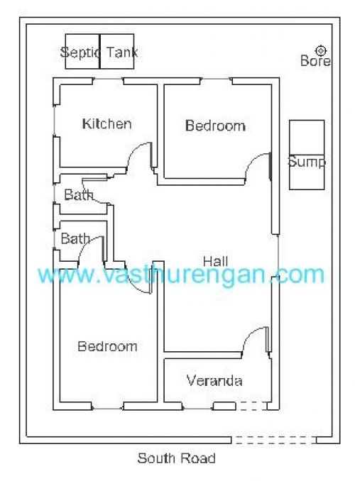 Vastu Plan For South Facing Plot 1 Jpg 500 678 Vastu House South Facing House House Plans