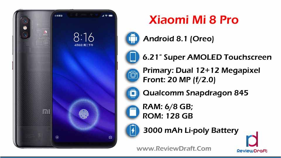 Xiaomi Mi 8 Pro Price in Bangladesh, Full Specification