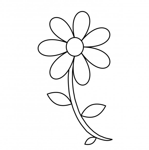 Flower Outline Coloring Page Flower Coloring Pages Flower Outline Easy Coloring Pages